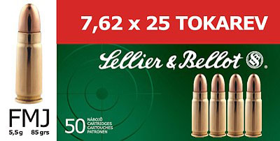 Sellier & Bellot 7.62X25 Tokarev 85GR FMJ 50/1500