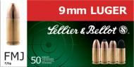 Sellier & Bellot 9mm JHP 115 GR 50Box/20Case