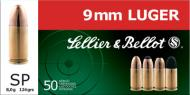 Sellier & Bellot 9mm Soft Point 124 GR 50Box/20Case