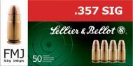 Sellier & Bellot 357SIG 140GR FMJ 50/1000