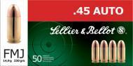 Sellier & Bellot Pistol 45 ACP 230Gr Full Metal Jacket 50 1000 SB45A