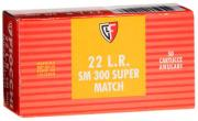Fiocchi Super Match 22 Long Rifle Lead Round Nose 40 GR 50Box