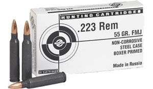 Tulammo TA223550 TULAMMO 223 Remington/5.56 Nato FMJ 55 GR 20Box/50Case