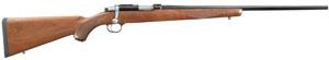 "Ruger 77 Bolt 17 Hornady Magnum Rimfire (HMR) 22"" American Walnut Blue"