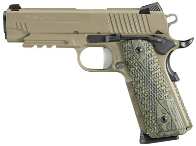 "Sig Sauer 1911 Traditional 45 ACP 4.25"" 8+1 Poly Grip Black"