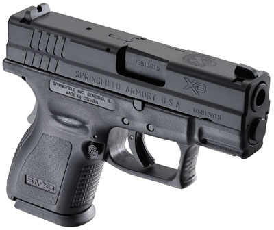 """Springfield Armory XD 3"""" Essential SubCmpt 40 S&W 3"""" 10+1 Poly Grip Blk"""